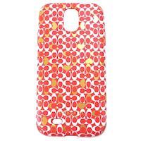 COACH 滿版 LOGO Samsung S4 手機保護殼(紅白黃)