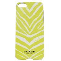 COACH 斑馬紋 iPhone 5 手機保護殼(黃)