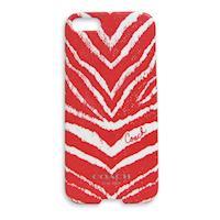 COACH 斑馬紋 iPhone 5 手機保護殼(紅)