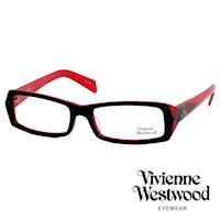 Vivienne Westwood 光學鏡框★時尚造型方框★英倫龐克雙色板料/平光鏡框(紅黑色) VW195E04