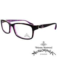 Vivienne Westwood 英國Anglomania側接金屬經典土星光學眼鏡(琥珀+紫)AN285E02
