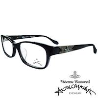 Vivienne Westwood 英國Anglomania復古感個性鉚釘光學眼鏡(黑)AN280E01