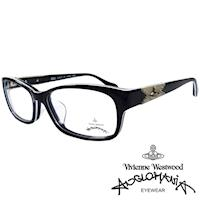 Vivienne Westwood 英國Anglomania復古感個性鉚釘光學眼鏡(黑+白)AN280E04