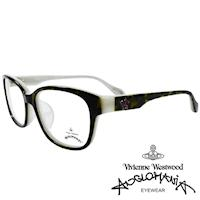 Vivienne Westwood 英國Anglomania五芒土星琥珀撞色光學眼鏡(黑琥珀+乳白)AN282E01