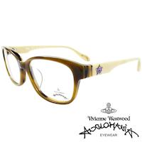 Vivienne Westwood 英國Anglomania五芒土星琥珀撞色光學眼鏡(黃琥珀+白)AN282E02