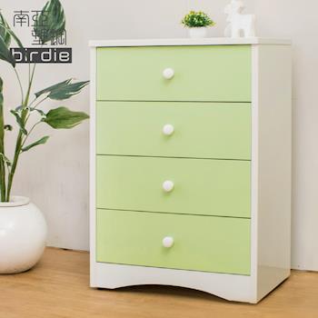 Birdie南亞塑鋼-貝妮2.2尺塑鋼四斗櫃(粉綠色)