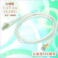 fujiei 台灣製CAT.6A 超高速傳輸網路線1米