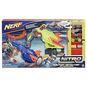 【 美國 Hasbro / NERF 樂活打擊 】NITRO極限射速賽車 - 特技對抗發射組