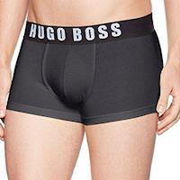 HUGO BOSS 男時尚LOGO彈力黑色四角內著(預購)