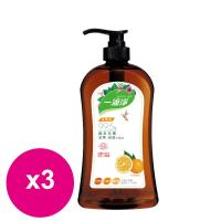 楓康一滴淨蘆薈多酚洗潔精-柑橘植萃 1000g X3瓶