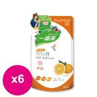 楓康一滴淨蘆薈多酚洗潔精-柑橘植萃 800gX6包