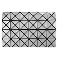 ISSEY MIYAKE 三宅一生 BAOBAO  4x6金屬幾何方格票卡包(銀)