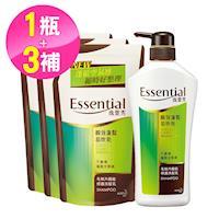 逸萱秀 瞬效蓬鬆易吹乾洗髮乳700ml+補充包550ml(3入)
