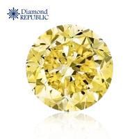 【鑽石共和國】GIA 圓型祼鑽0.42克拉 Q-R / SI1(近黃彩鑽)
