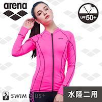 限量 秋冬新款 arena 女士 運動休閒款 LMS7213WA  女士 長袖外套 上衣 潛水服 運動健身 游泳