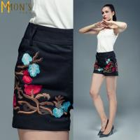 MONS中式精品典雅繡花短褲(CC7503)