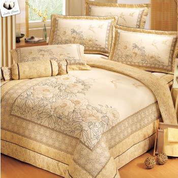 【幸運草】熱銷二選一 高級精梳棉大版立體車工ABC版特大八件式床罩組-型(網)