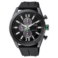 CITIZEN 星辰 光動能渦輪時尚計時手錶 黑 43mm CA0667-12E