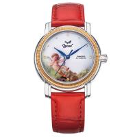 Ogival瑞士愛其華-搪瓷彩繪自動機械錶(邱比特)358-24.10AMSR