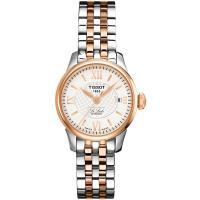 TISSOT 天梭 Le Locle 力洛克系列機械女錶(銀x玫瑰金/25.3mm) T41218333