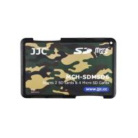 JJC二張SD+四張Micro SD記憶卡儲存盒MCH-SDMSD6YG迷彩色(名片型)