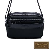 Roberta Colum - 現代雅痞休閒配真皮多隔層口袋側背包(橫)-共2色