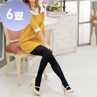 【華貴】90丹天鵝絨400針柔細保暖禦寒超彈性褲襪-6雙(MIT 黑色)