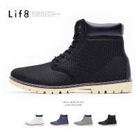 Life8-Casual 率性透氣網布 簡約七孔短靴 NO. 09757