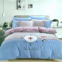 eyah宜雅 刺繡+貼布繡精緻精梳棉單人床包兩用被三件組-時間旅行