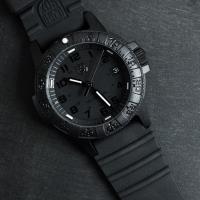 LUMINOX 雷明時SEA TURTLE 0300海龜系列腕錶-黑x黑時標/39mm A0301.BO