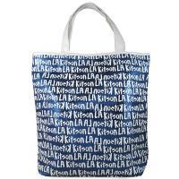 Kitson LA 雙色亮片字母大托特肩包(藍/白)