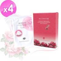 BLOSSOM 玫瑰5D浄白保濕羽絲絨煥采面膜30ML (5片/盒) x4