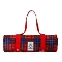 BRUNO格紋野餐墊(紅色)
