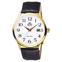 ORIENT東方 時尚玩家腕錶 白x金框x咖啡 41mm FER27005W
