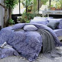 HOYA H Series華爾滋 特大四件式頂級500織匹馬棉被套床包組-贈蠶絲冬被