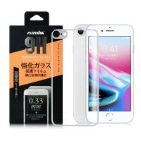 NISDA iPhone 8 4.7吋 背面滿版鋼化玻璃保護貼-白色/粉色/黑色