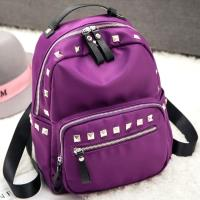 【Acorn*橡果】韓版鉚釘牛津布防水後背包6413(紫色)