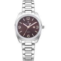 Olym Pianus奧柏表-聚焦 石英腕錶-咖啡 33mm 5706LS