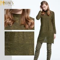 MONS法式高領喀什米爾鏤空洋裝/長上衣(CE7529)