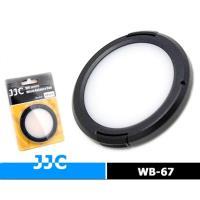 JJC白平衡鏡頭蓋67mm白平衡鏡頭蓋WB-67(有孔)