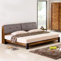 Homelike 雅格工業風床架組(含床頭箱)-雙人加大6尺