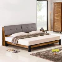 Homelike 雅格工業風床架組(含床頭箱)-雙人5尺