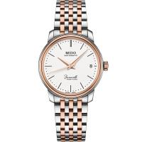 MIDO 美度 Baroncelli永恆系列 復刻典藏機械女錶(銀x雙色/33mm) M0272072201000