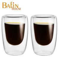 Bafin House 雙層耐熱玻璃咖啡杯2入組