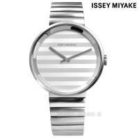ISSEY MIYAKE / VJ20-0110S.SILAAA05Y / PLEASE 三宅一生 時裝系列百摺防水不鏽鋼手錶 銀色 40mm