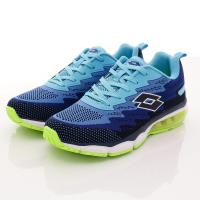 Lotto樂得-編織氣墊慢跑鞋-MR5176藍(男款)