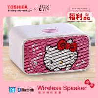 (福利品)TOSHIBA Hello Kitty NFC 雙聲道木質藍牙喇叭音響 TY-WSP53KTTW