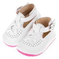 《布布童鞋》ArnoldPalmer雨傘牌宮廷風典雅蝴蝶結白色皮革寶寶鞋(12.5~15公分) [ M7P251M ] 白色款