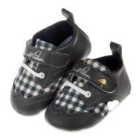 《布布童鞋》ArnoldPalmer雨傘牌格紋灰色寶寶學步鞋(13~15公分) [ M7R216J ] 灰色款