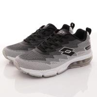 Lotto樂得-編織氣墊慢跑鞋-MR5178灰黑(男款)